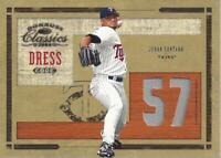 2004 Donruss Classics Dress Code Jersey #49 Johan Santana Jersey /100 - NM-MT