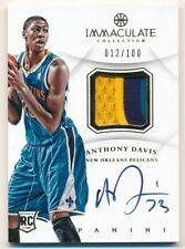 ANTHONY DAVIS 2012/13 IMMACULATE COLLECTION ROOKIE AUTO 3 COLOR PATCH SP #/100
