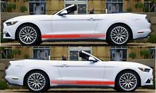 2 Lower Decal Side Stripes for Ford Mustang GT Diffuser Window Louver Racing