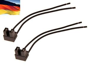 Flosser Wire Harness 7444 Pigtail Female H7 Head Light Bulb High Beam Socket Fit