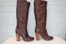 Next Knee High Pull on 100% Leather Women's Boots