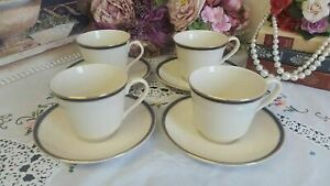 Royal doulton new romance collection tea cups and saucers 8 pieces
