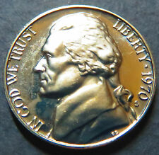 "1970-S  JEFFERSON  ""PROOF""  NICKEL, BU UNCIRCULATED San Francisco Mint Coin #5"