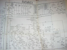 Bally Futurity W-353 Bingo Pinball Schematic Complete original 1951 Vg+