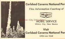 1960s Mobil Oil Service Gas Station Carlsbad Caverns White's City NM Postcard