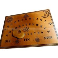 Authentique planche de OUIJA / spirit board OUI-JA / spiritisme ghost haunted .