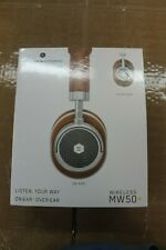 Master & Dynamic MW50 On-Plus-Over Ear Wireless Headphones Silver/Brown Leather
