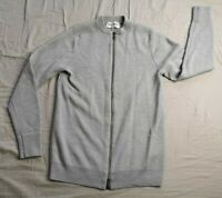 Hardy Amies Men's Grey Full Zip Cardigan Jumper Size S Small Good Used Condition