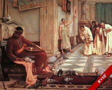 ROMAN EMPEROR HONORIUS FEEDING BIRDS PIGEONS PAINTING ART REAL CANVAS PRINT
