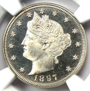 1897 PROOF Liberty Nickel 5C Coin - NGC PR67 Cameo (PF67) - $2,500 Value!