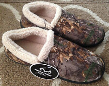 Mens Large 11/12 Realtree Camo Camouflage Sherpa Lined Slippers House Shoes New