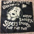 black snoopy sleepy sleeping time cotton canvas cushion cover 16 x 16