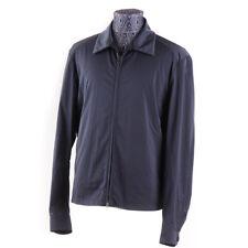 NWT $900 BOGLIOLI Navy Blue Nylon Tech Fabric Bomber Jacket M (Eu 40)