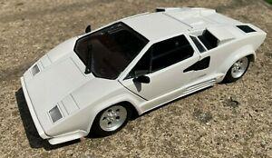 VHTF Polistil Tonka Vintage Diecast White Lamborghini Countach 1:18 Scale