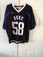 Duke Blue Devils mens large Team Nike football jersey, # 58, EUC