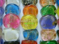 15 mix flat head resin rings lots wholesale job lot