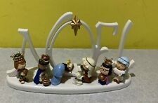 Peanuts Battery-Operated LED Lighted Nativity Scene Plastic w/ Snoopy as a Lamb