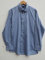 "Fantastic JAEGER Mens Blue / White Striped Cotton Long Sleeve Shirt 16.5"" /44"""