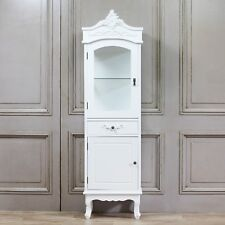 Shabby Chic French Chateau Style Single Display Cabinet in White Fwf26w