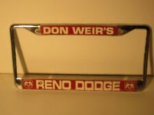 Black License Plate Frame I/'d Rather Be In Reno Auto Accessory Novelty 2576