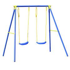 Altalena dondolo 2 posti struttura acciaio per bambino 3-12 anni gioco A1527002
