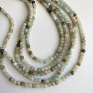 4mm Natural Amazonite Gemstone Beads 95X Piece Strand Craft Bead