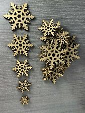 Wooden MDF Snowflakes Christmas Shapes Craft blank Plaque Card Making Scrapbook
