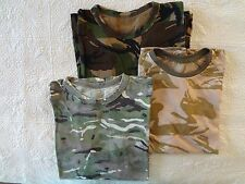 BRITISH ARMY CAMO T-SHIRTS SET (MTP, DPM, DDPM) SIZE- XL (52)