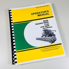 Operators Manual For John Deere 6620 Amp Sidehill 6620 7720 8820 Combine Owners