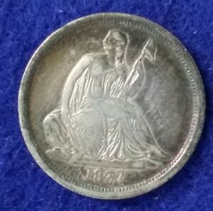1837 Seated Liberty Dime - Very Fine Details