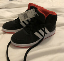 Adidas Hoops Mid 2.0 Boys Black/White/Red Sneakers/Shoes size Youth 5