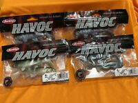 "BERKLEY HAVOC 4"" SICK FISH - BASS - WALLEYE (4 Pack Lot ) Fast Shipping! NEW!"