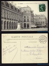 █ CPA 35 RENNES avec cachet ambulant BREST A PARIS RAPIDE D du 10 Fevrier 1911 █