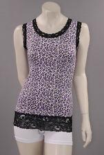 Spitzen TOP Tanktop Spitze Basic Shirt Party Clubwear Leopard Tunika vm204