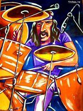 JOHN BONHAM PRINT poster drums led zeppelin I III cd houses of the holy snare