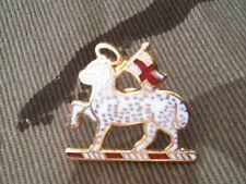 Queens Regiment West Surrey Lapel Lamb & Flag Military Badge