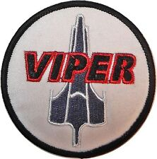 "Battlestar Galactica BSG Viper Logo  3"" Wide Embroidered Patch"