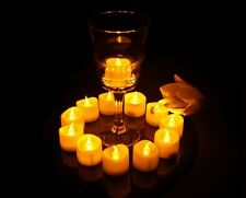24pcs Yellow Flicker Flameless Tea Lights Battery Powered LED Candles Tealight