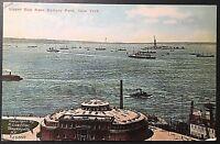 Upper Bay Battery Park NY Vintage Postcard E105