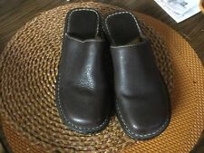 """BORN CLOGS MULES SLIDES SIZE 8/ 39 M BROWN LEATHER 3"""" Heel"""
