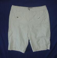 Allison Brittney Women's Capri Cropped Pants Shorts Size 8 -  Beige 100% Cotton