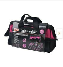 Complete Home Pink Tool Kit with Bag (24-Piece)by KING
