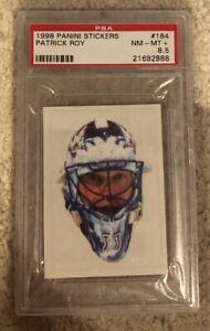 Patrick Roy PSA 8.5 1998 PANINI #184 Sticker Goalie Mask Avalanche Only 4 higher
