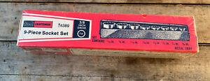 "vintage NOS Craftsman Tools 9 piece SAE socket set 3/8"" dr USA MADE 94389 NEW!"