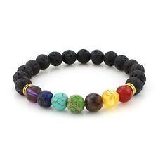 7 CHAKRA HEALING Balance Lava AROMATHERAPY Diffuser REIKI Bracelet USA Seller!