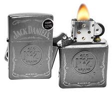 Zippo 29150 Jack Daniel's Old No 7 Brand Gray Dusk Finish Windproof Lighter New