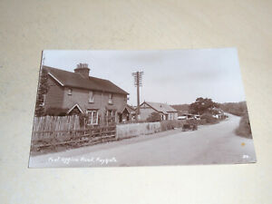 1926 REAL PHOTO POSTCARD - POST OFFICE ROAD, FAYGATE, HORSHAM, SUSSEX