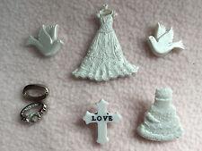 Dress IT UP pulsanti ~ WEDDING ~ ABITO ~ TORTA ~ ANELLI ~ COLOMBE ~ CROSS