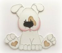 PUPPY DOG ANIMAL PREMADE PAPER PIECING PIECE  3D DIE CUT BY MY TEAR BEARS KIRA