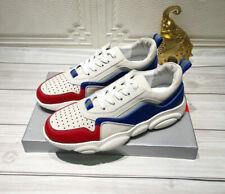 Prada Man Sneakers Pelle col. Multicolor Bianco/Rosso/Blu - n° 43 (EU)